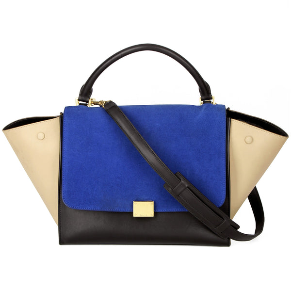 Céline Medium Trapeze Tri-Color Expandable Tote Bag