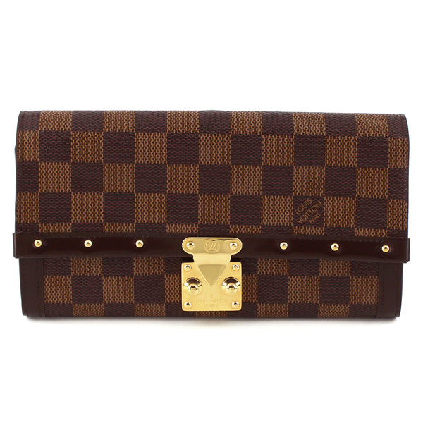 Louis Vuitton Damier Ebene Venice Studded Clutch Wallet