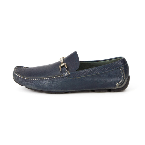 Salvatore Ferragamo Men's Navy Blue Loafers sz 8.5