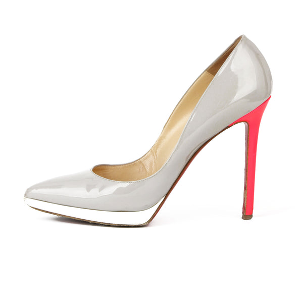 Christian Louboutin Pigalle Plato Patent Leather Pumps sz 39.5