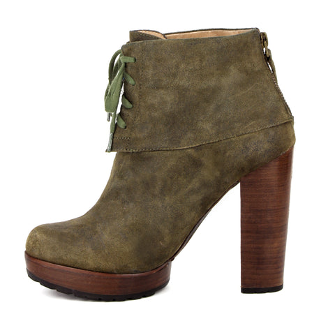 Modern Vintage Lace-Up Jenie Suede Ankle Boot sz 38