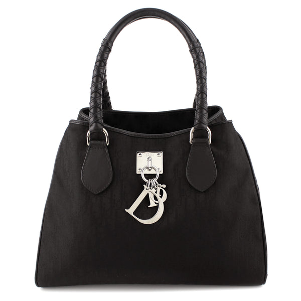 Dior Signature Canvas D-Charm Satchel