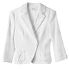 Zara Women's White Knit Cotton Blazer Jacket size 4 XS