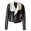 BCBG Maxazria Women's Black Leather Shepra lined Jacket XXS / XS