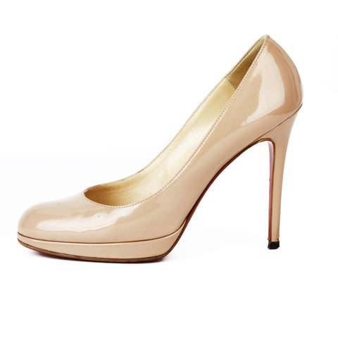 Christian Louboutin Beige Patent Leather Pumps sz 39