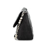 Dior Perforated Leather & Denim Crystal Charms Shoulder Bag
