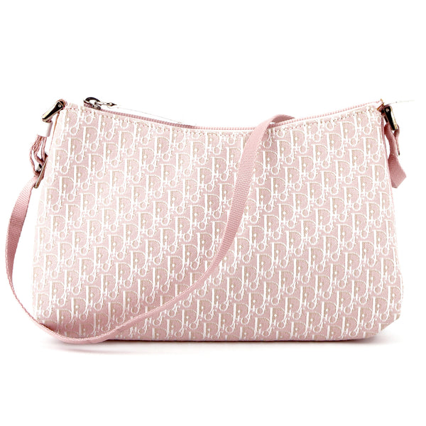 Dior Vintage Iridescent Pink Monogram Canvas Shoulder Bag