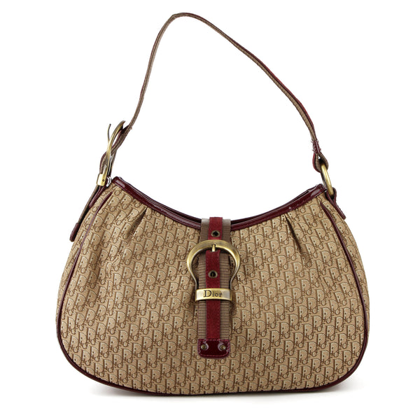 Dior Vintage Monogram Canvas Shoulder Bag
