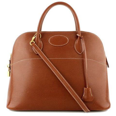 Hermes Bolide 35 Etrusque Courchevel Satchel & Shoulder Bag