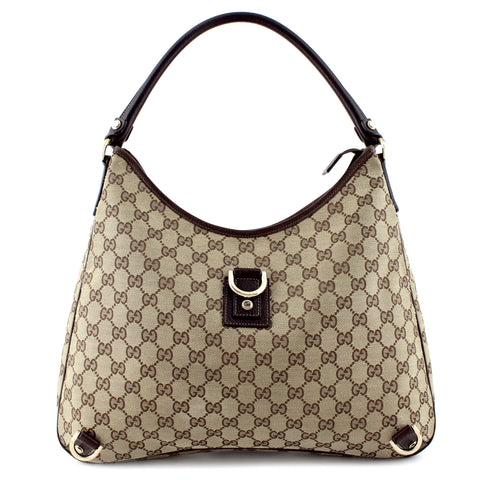 Gucci GG Canvas Large Abbey D-Ring Hobo
