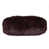 Chanel Vintage Single Flap Burgundy Plum Fur Chain Purse