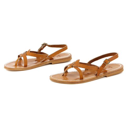 K Jacques St-Tropez Orion Buffon Leather Sandals sz 37 / 6.5