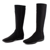 Prada Sport Black Tessutto Canvas & Leather Flat Tall Boots sz 38.5
