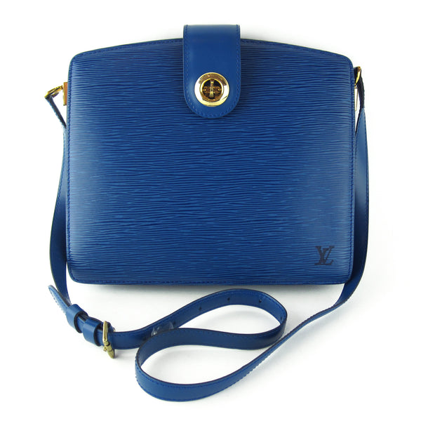 Louis Vuitton Blue Epi Capucines Box Shoulder & Crossbody Bag