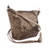 Whiting & Davis Bronze Metal Mesh Mini Crossbody Bag