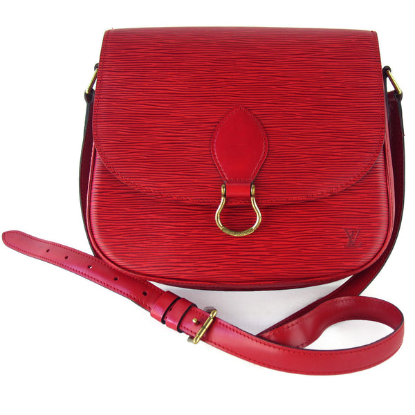Louis Vuitton Red Epi Saint-Cloud GM