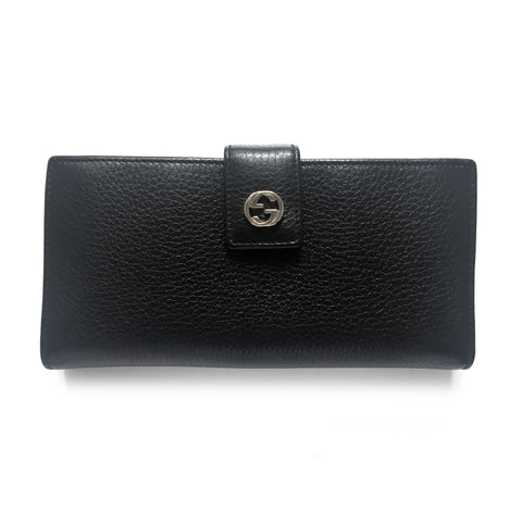Gucci Miss GG Black Leather Continental Wallet