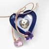 Swarovski Champagne Crystal Heart Necklace