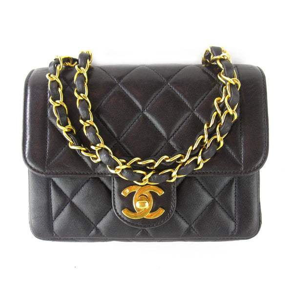 Chanel Mini Quilted Double Chain Purse
