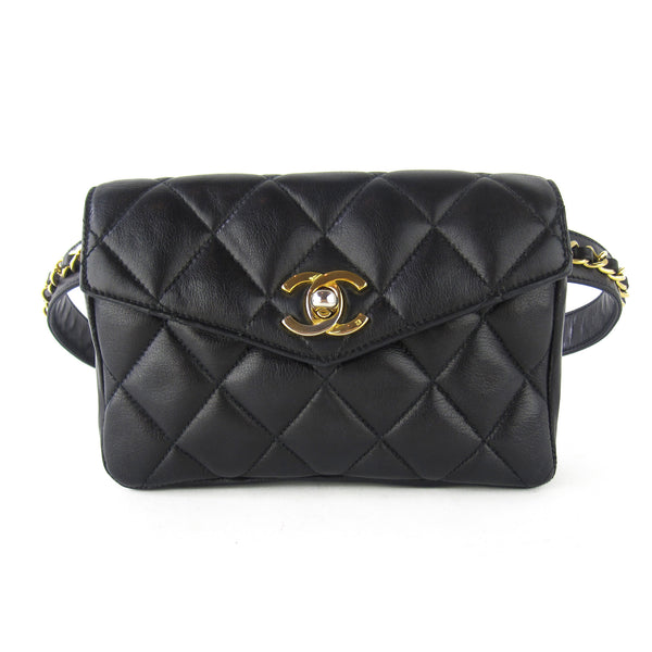 Chanel Quilted Chain Belted Pochette