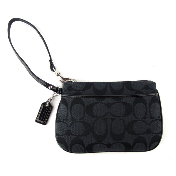 Coach Small Signature Wristlet Clutch