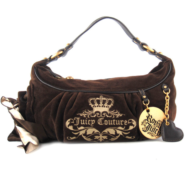 Juicy Couture Small Velour Shoulder Bag
