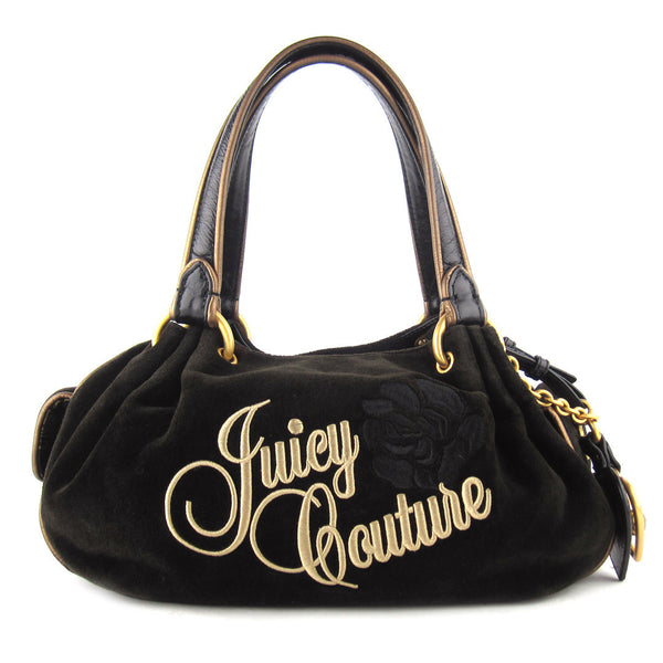Juicy Couture Med Velour Shoulder Bag