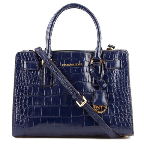 Michael Kors Dillon Croc Leather Satchel & Crossbody