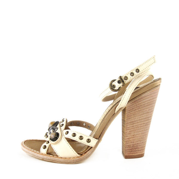Shy Italy Studded Sandals sz 36 - NEW