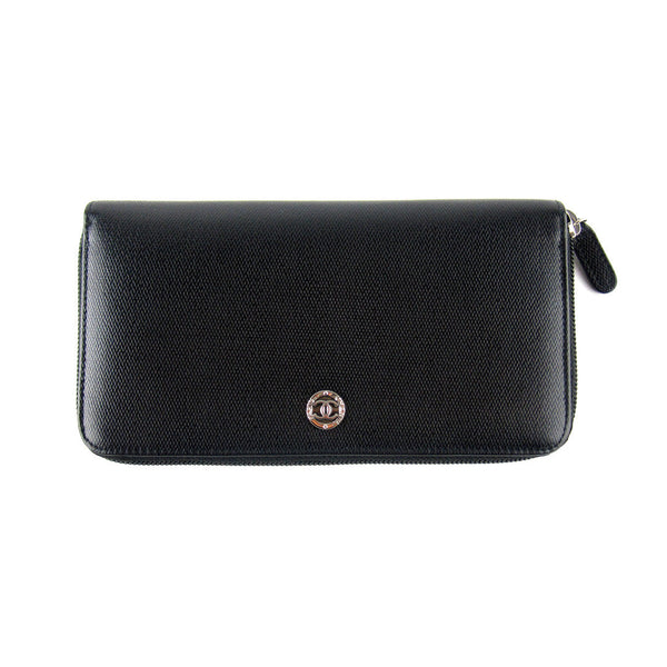 Chanel Textured Long Zip Wallet