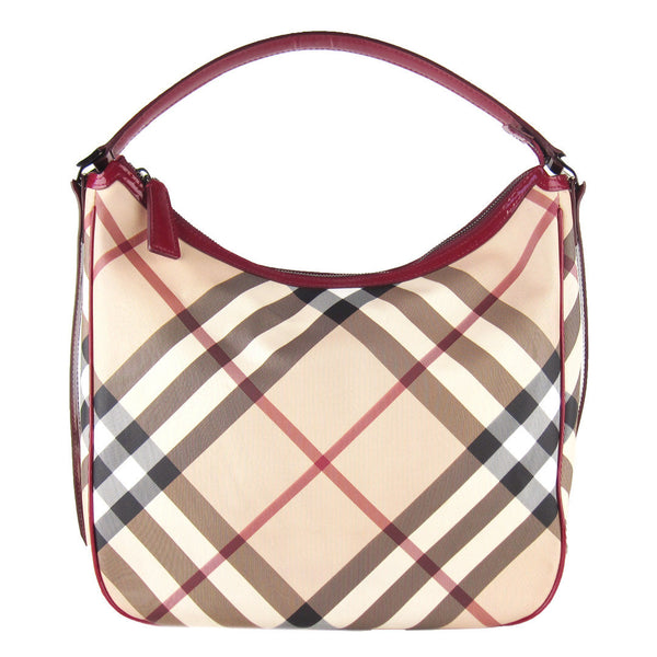 Burberry Nova Check Zip Hobo - NEW