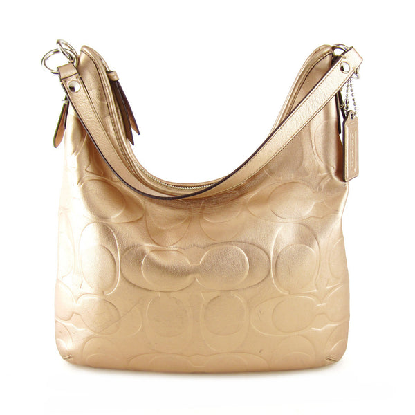 Coach Signature Embossed Two-way Hobo