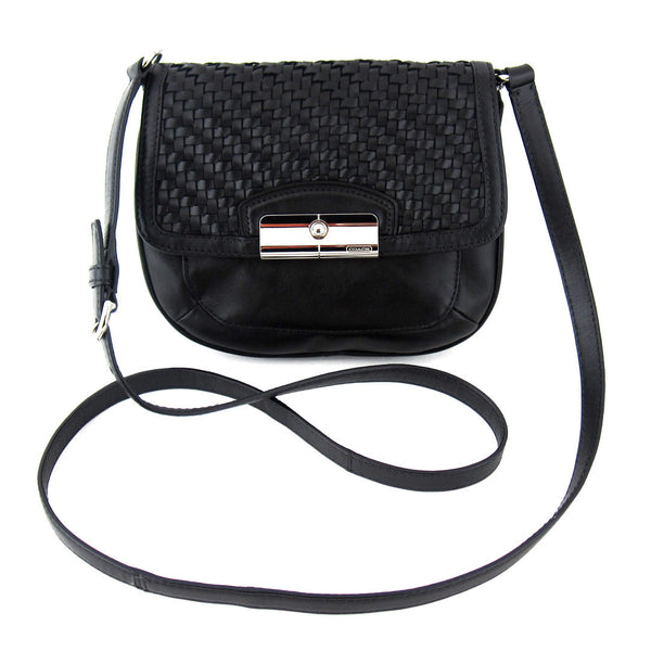 Coach Small Weaved Leather Cross-Body