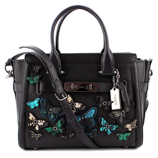 Coach Butterfly Applique Leather Swagger 27 Satchel & Crossbody