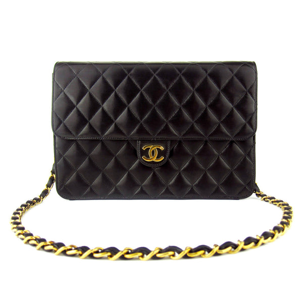 Chanel Vintage Quilted Flap Lambskin Chain Purse