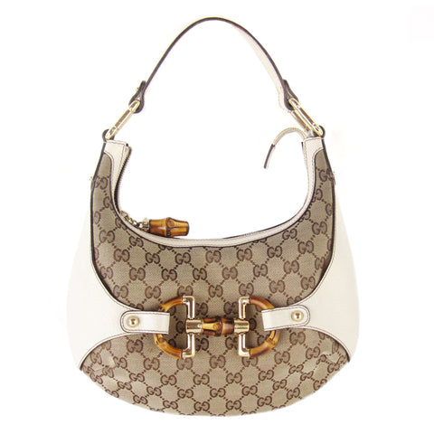 Gucci Small GG Canvas Bamboo Horsebit Hobo