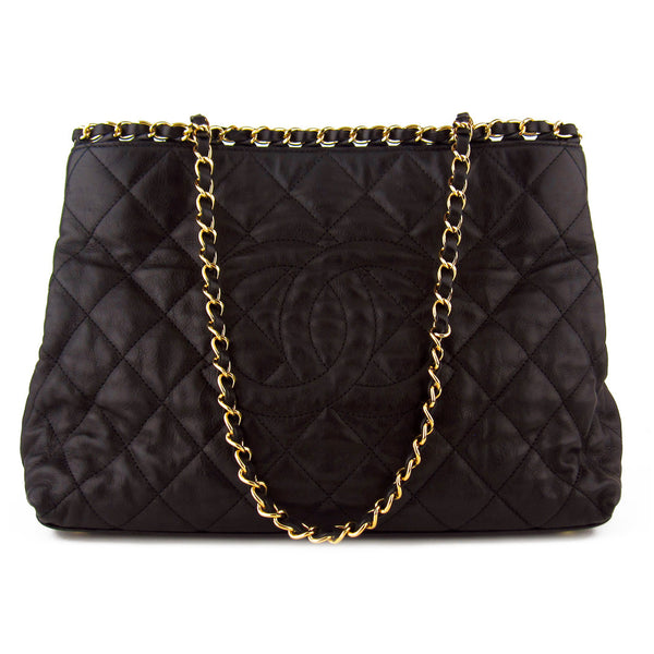 Chanel Quilted Calfskin Chain Me Tote