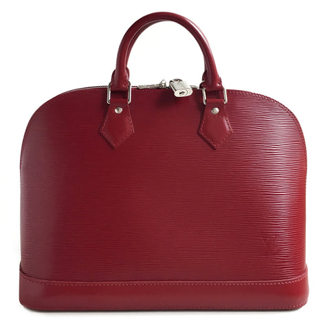 Louis Vuitton Epi Rubis Red Alma PM Satchel
