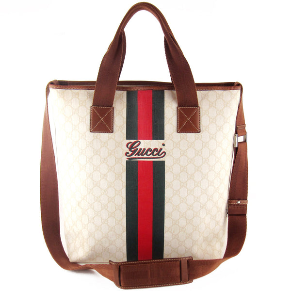 Gucci XL Coated GG Canvas Messenger