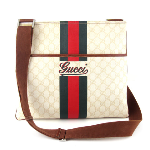 Gucci Flat Coated GG Canvas Messenger