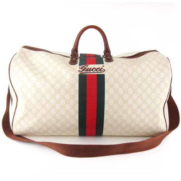 Gucci Coated GG Canvas Duffle