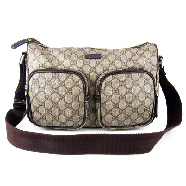 Gucci Coated GG Canvas Pocketed Messenger