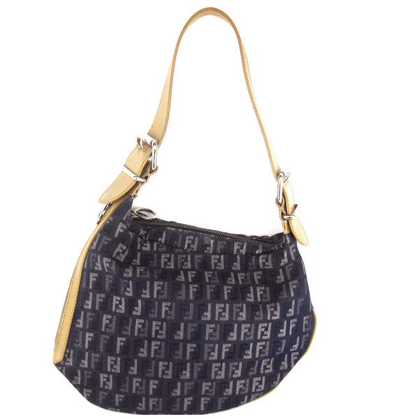 Fendi Denim Canvas Shoulder Bag