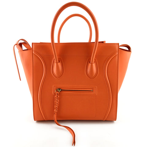 Celine Phantom Medium Luggage Tote - Bright Orange