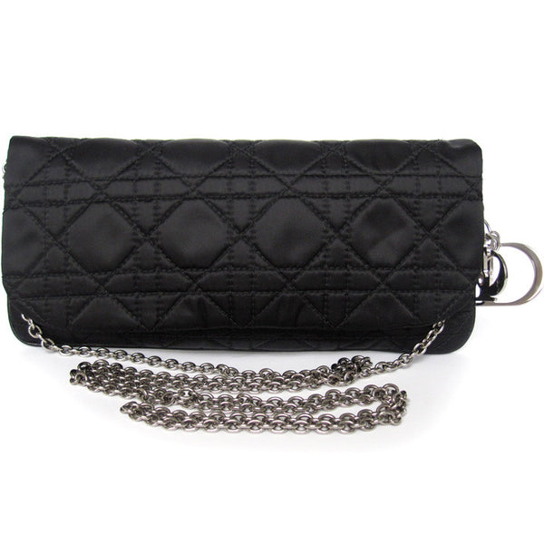 Dior Satin Cannage Small Clutch Purse