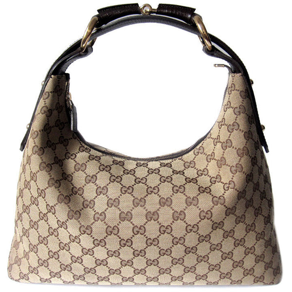 Gucci Canvas Medium Horsebit Hobo