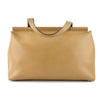 Twin Set Milano Minimalist Tan Leather Tote & Pochette