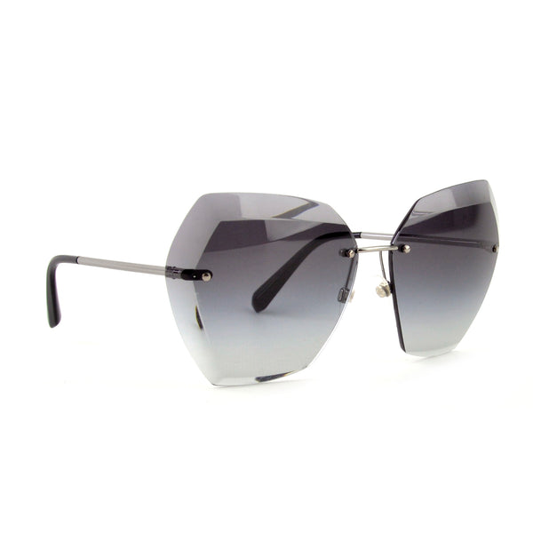 Chanel Oversized Hexagon Sunglasses