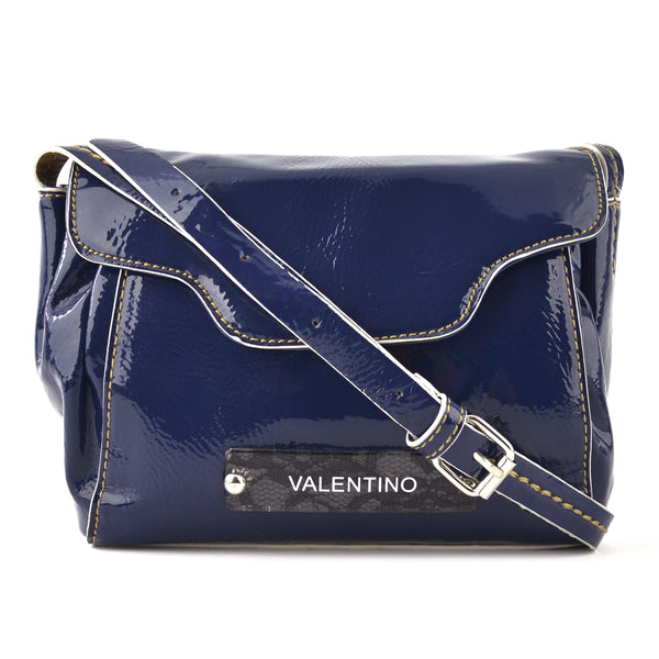 Valentino by Mario Valentino Navy Patent Shoulder & Crossbody