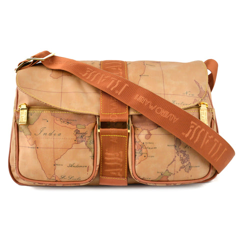Alviero Martini Geo Classic World Map Crossbody Shoulder Bag